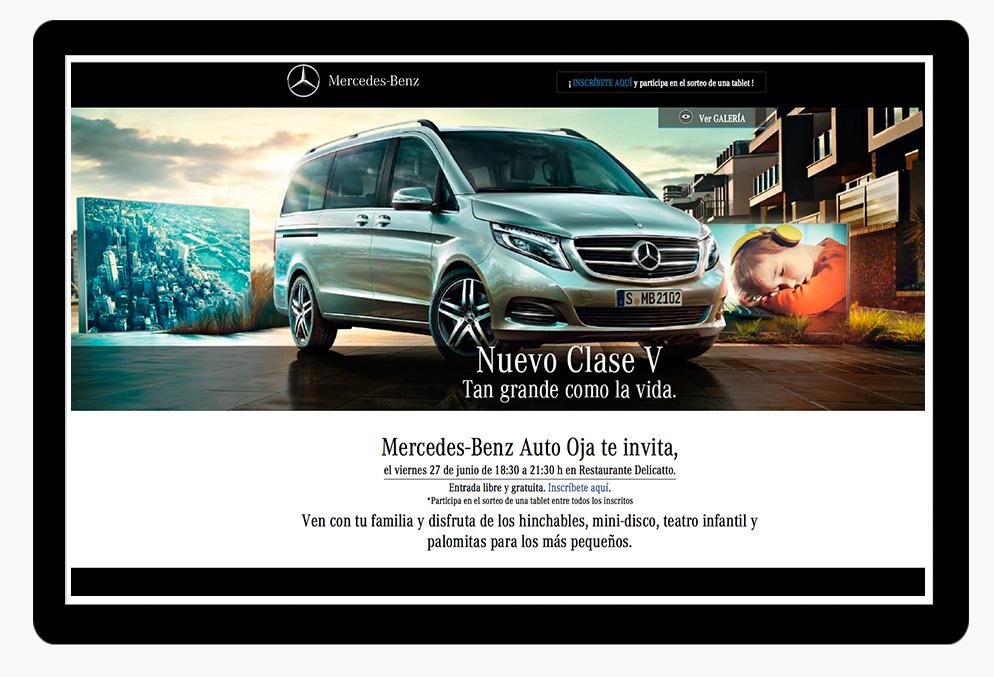 Inscripción online a la fiesta de presentación de nuevo Mercedes V.