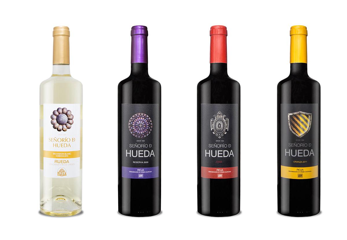 Dise o etiquetas para vino y packaging bodegas hueda en la - Diseno de bodegas ...